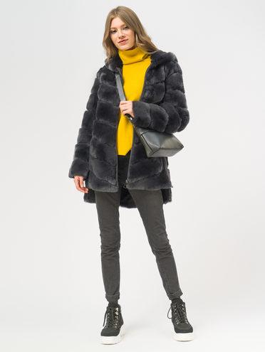 Шуба мех кролик крашеный, цвет темно-серый, арт. 30109000  - цена 18990 руб.  - магазин TOTOGROUP