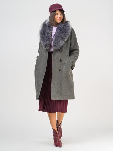Текстильное пальто 35% шерсть, 65% полиэстер, цвет темно-серый, арт. 30109094  - цена 6990 руб.  - магазин TOTOGROUP