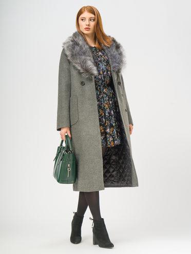 Текстильное пальто 35% шерсть, 65% полиэстер, цвет темно-серый, арт. 30109096  - цена 4990 руб.  - магазин TOTOGROUP