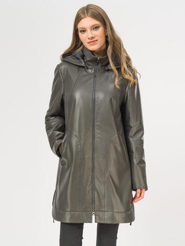Кожаное пальто кожа, цвет темно-серый, арт. 30109534  - цена 13390 руб.  - магазин TOTOGROUP