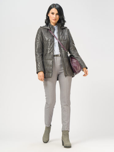Кожаная куртка кожа , цвет темно-серый, арт. 30109536  - цена 17990 руб.  - магазин TOTOGROUP