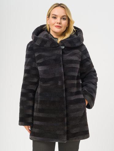 Шуба из нутрии мех нутрия, цвет темно-серый, арт. 30109658  - цена 19990 руб.  - магазин TOTOGROUP