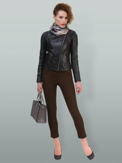 Кожаная куртка кожа овца, цвет темно-серый, арт. 30700021  - цена 11990 руб.  - магазин TOTOGROUP