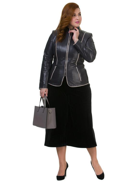 Кожаная куртка кожа , цвет темно-серый, арт. 30700029  - цена 10590 руб.  - магазин TOTOGROUP
