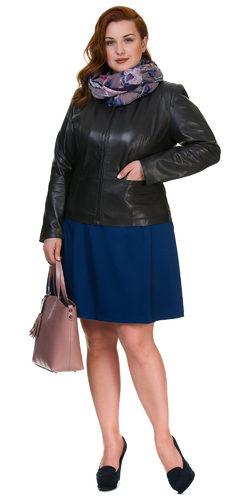 Кожаная куртка кожа овца, цвет темно-серый, арт. 30700107  - цена 11490 руб.  - магазин TOTOGROUP