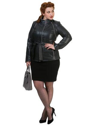 Кожаная куртка кожа овца, цвет темно-серый, арт. 30700109  - цена 9990 руб.  - магазин TOTOGROUP