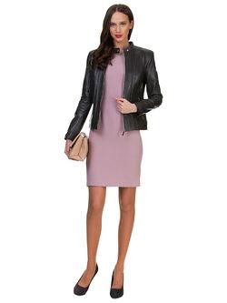 Кожаная куртка кожа овца, цвет темно-серый, арт. 30700138  - цена 11990 руб.  - магазин TOTOGROUP