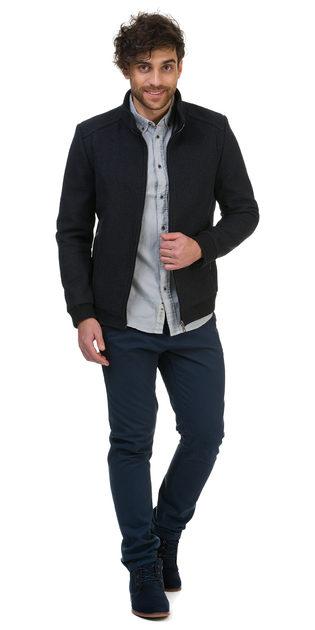 Текстильная куртка 51% п/э,49%шерсть, цвет темно-серый, арт. 30700202  - цена 3790 руб.  - магазин TOTOGROUP