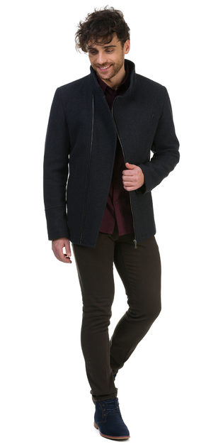 Текстильная куртка 51% п/э,49%шерсть, цвет темно-серый, арт. 30700204  - цена 6490 руб.  - магазин TOTOGROUP