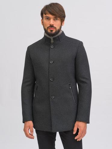 Текстильное пальто 51% п/э,49% шерсть, цвет темно-серый, арт. 30710372  - цена 10590 руб.  - магазин TOTOGROUP