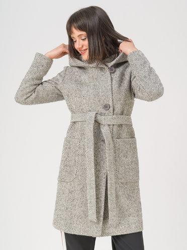 Текстильное пальто 35% шерсть, 65% полиэстер, цвет темно-серый, арт. 30711413  - цена 4990 руб.  - магазин TOTOGROUP