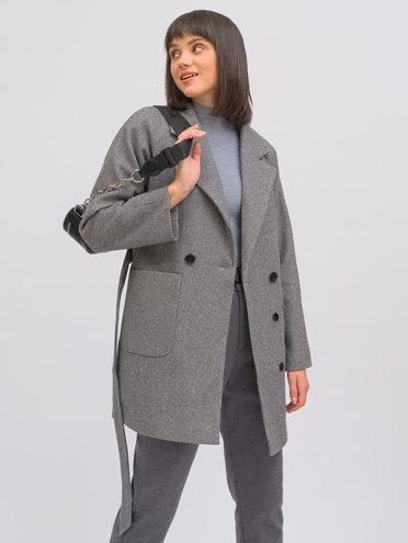 Текстильное пальто 95% лавсан, 5% вискоза, цвет темно-серый, арт. 30711748  - цена 7990 руб.  - магазин TOTOGROUP
