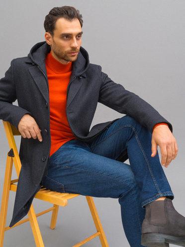 Текстильное пальто 51% п/э,49% шерсть, цвет темно-серый, арт. 30718668  - цена 10590 руб.  - магазин TOTOGROUP