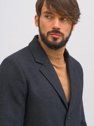 Текстильное пальто 51% п/э,49% шерсть, цвет темно-серый, арт. 30718964  - цена 11290 руб.  - магазин TOTOGROUP