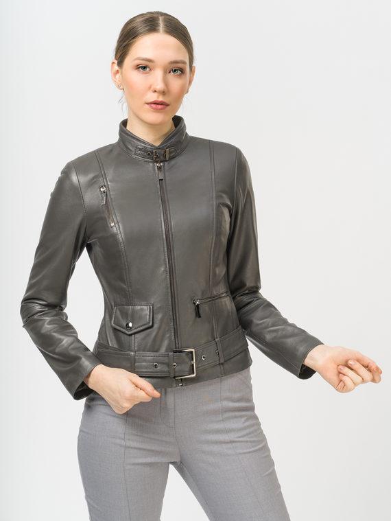 Кожаная куртка кожа, цвет темно-серый, арт. 30802492  - цена 9990 руб.  - магазин TOTOGROUP