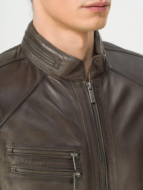 Кожаная куртка артикул 30809216/46 - фото 4