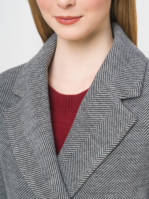 Текстильное пальто артикул 30809288/46 - фото 4