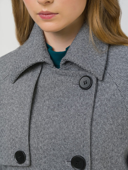 Текстильное пальто артикул 30809320/50 - фото 3