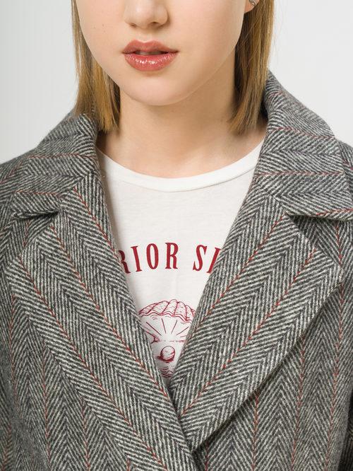 Текстильное пальто артикул 30809971/42 - фото 4