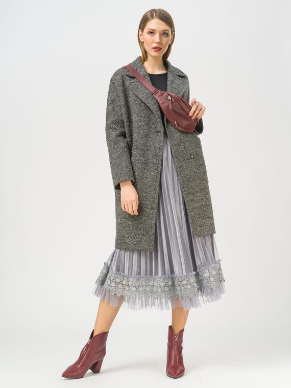 Текстильное пальто 35% шерсть, 65% полиэстер, цвет темно-серый, арт. 30809988  - цена 5890 руб.  - магазин TOTOGROUP