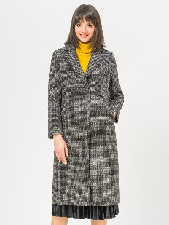 Текстильное пальто 35% шерсть, 65% полиэстер, цвет темно-серый, арт. 30810107  - цена 5890 руб.  - магазин TOTOGROUP