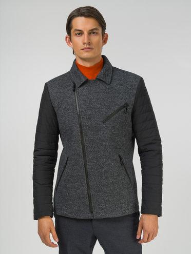 Текстильная куртка 49% шерсть, 51% п.э, цвет темно-серый, арт. 30810132  - цена 5890 руб.  - магазин TOTOGROUP