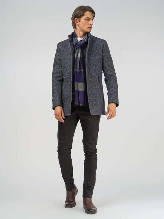 Текстильная куртка 51% п/э,49% шерсть, цвет темно-серый, арт. 30810372  - цена 8990 руб.  - магазин TOTOGROUP
