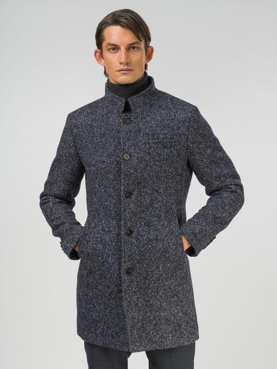 Текстильное пальто 51% п/э,49%шерсть, цвет темно-серый, арт. 30810373  - цена 8990 руб.  - магазин TOTOGROUP