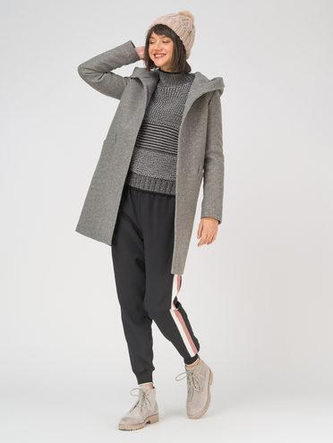 Текстильное пальто 35% шерсть, 65% полиэстер, цвет темно-серый, арт. 30810657  - цена 8490 руб.  - магазин TOTOGROUP