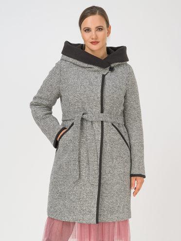 Текстильное пальто 35% шерсть, 65% полиэстер, цвет темно-серый, арт. 30810667  - цена 7490 руб.  - магазин TOTOGROUP