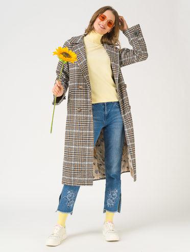 Текстильное пальто 30% шерсть, 70% п.э, цвет темно-серый, арт. 30810726  - цена 9490 руб.  - магазин TOTOGROUP