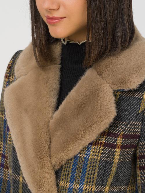 Текстильное пальто артикул 30810728/46 - фото 3
