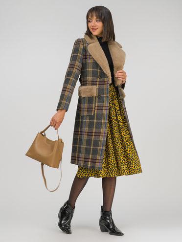 Текстильное пальто 30% шерсть, 70% п.э, цвет темно-серый, арт. 30810728  - цена 4990 руб.  - магазин TOTOGROUP