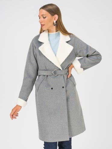 Текстильное пальто 35% шерсть, 65% полиэстер, цвет темно-серый, арт. 30810739  - цена 4990 руб.  - магазин TOTOGROUP