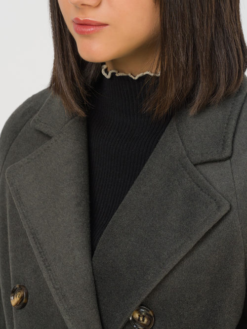 Текстильное пальто артикул 30810742/48 - фото 3