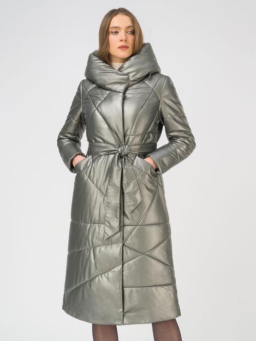 Кожаное пальто артикул 30810780/44 - фото 2