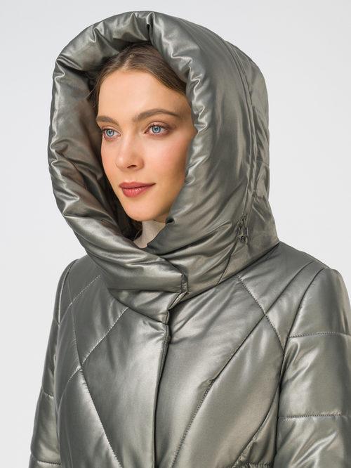 Кожаное пальто артикул 30810780/44 - фото 3