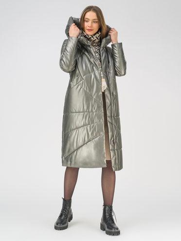 Кожаное пальто эко-кожа 100% П/А, цвет темно-серый, арт. 30810780  - цена 12690 руб.  - магазин TOTOGROUP