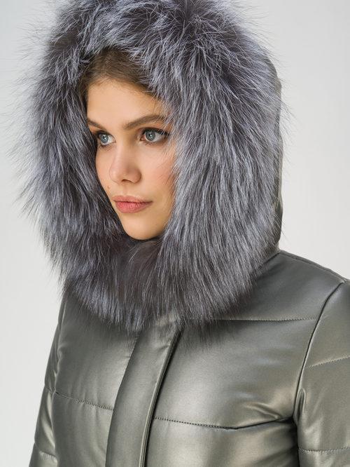 Кожаное пальто артикул 30810786/42 - фото 3