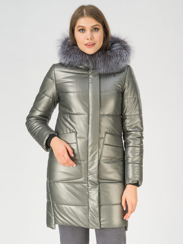 Кожаное пальто эко-кожа 100% П/А, цвет темно-серый, арт. 30810786  - цена 15990 руб.  - магазин TOTOGROUP