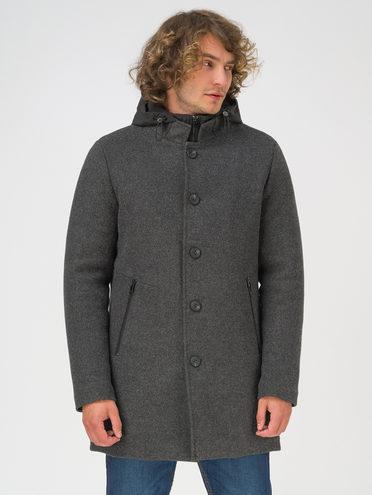 Текстильное пальто 100% полиэстер, цвет темно-серый, арт. 30810918  - цена 4990 руб.  - магазин TOTOGROUP