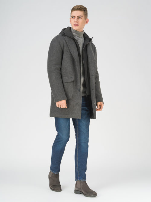 Текстильное пальто артикул 30810952/54 - фото 2