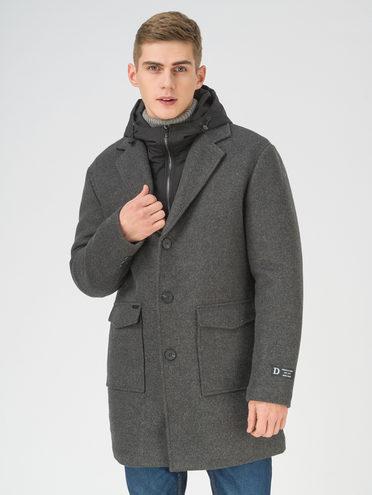 Текстильное пальто 51% п/э,49% шерсть, цвет темно-серый, арт. 30810952  - цена 5590 руб.  - магазин TOTOGROUP