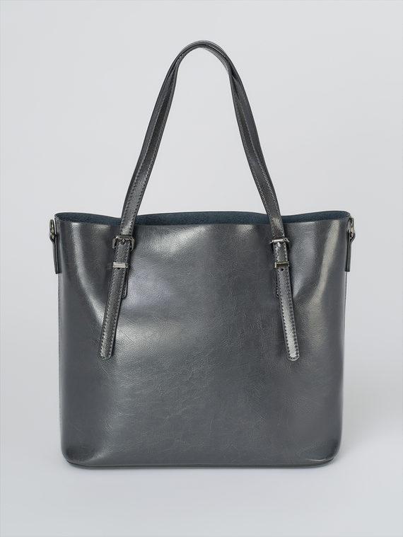 Сумка кожа теленок, цвет темно-серый, арт. 30811106  - цена 5890 руб.  - магазин TOTOGROUP