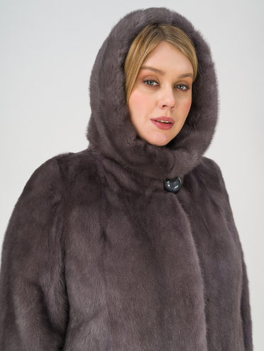 Шуба мех норка крашен., цвет темно-серый, арт. 30811115  - цена 105990 руб.  - магазин TOTOGROUP