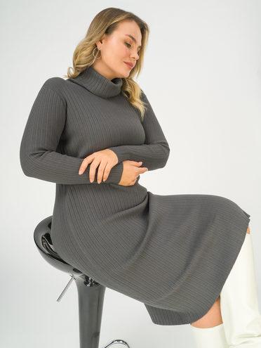 Платье 30% П/Э, 27% акрил, 23% модал, 20% нейлон, цвет темно-серый, арт. 30811279  - цена 2990 руб.  - магазин TOTOGROUP