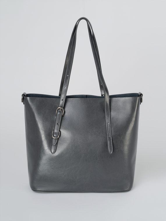 Сумка кожа теленок, цвет темно-серый, арт. 30811326  - цена 4990 руб.  - магазин TOTOGROUP