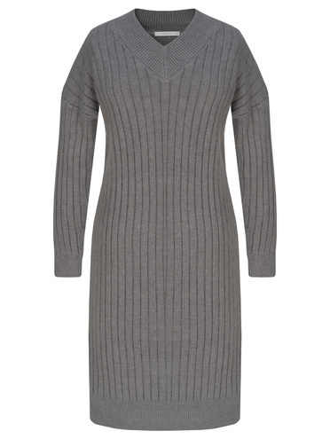 Платье 65% полиэстер, 17% нейлон, 15% акрил, 3% шерсть, цвет темно-серый, арт. 30811340  - цена 2170 руб.  - магазин TOTOGROUP