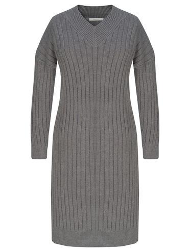 Платье 65% полиэстер, 17% нейлон, 15% акрил, 3% шерсть, цвет темно-серый, арт. 30811340  - цена 2990 руб.  - магазин TOTOGROUP