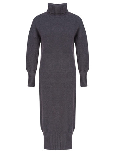 Платье 60% шерсть, 33% нейлон, 7% полиэстер, цвет темно-серый, арт. 30811342  - цена 1950 руб.  - магазин TOTOGROUP